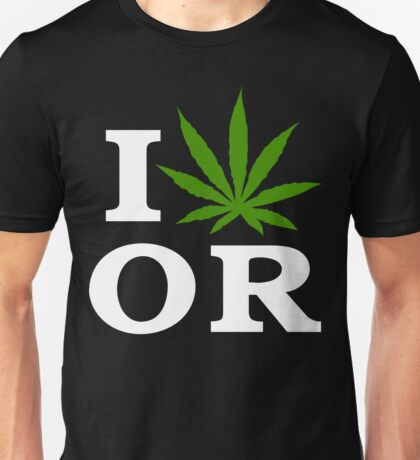 I Cannabis Oregon Unisex T-Shirt