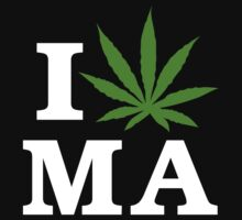 I Cannabis Massachusetts by MarijuanaTshirt