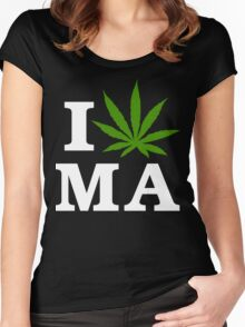 I Cannabis Massachusetts Women's Fitted Scoop T-Shirt