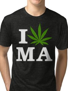 I Cannabis Massachusetts Tri-blend T-Shirt