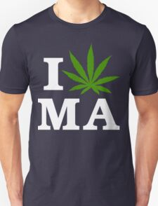 I Cannabis Massachusetts Unisex T-Shirt