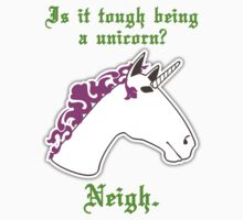 Is it tough being a unicorn? One Piece - Short Sleeve