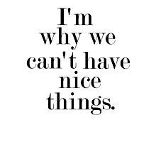 I'm why we can't have nice things Photographic Print