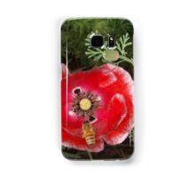 Poppy with Bee #2 Samsung Galaxy Case/Skin