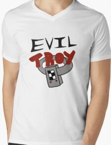 Evil Troy Mens V-Neck T-Shirt