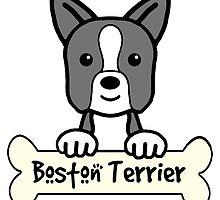 Boston Terrier Cartoon by AnitaValle