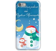 Snowmen - Merry Christmas iPhone Case/Skin