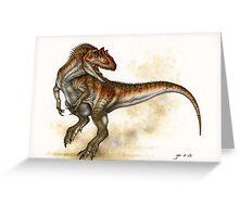 Allosaurus Greeting Card