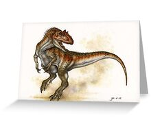 Allosaurus Greeting Card