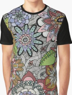 Chalkboard Flowers Graphic T-Shirt