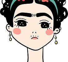 Frida Kahlo Doodle by meowcaron
