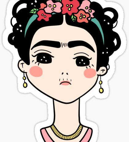 Frida Kahlo Doodle Sticker