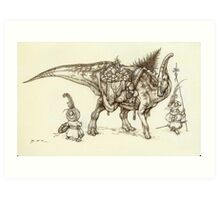 Holiday Hadrosaur 2011 Art Print