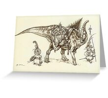 Holiday Hadrosaur 2011 Greeting Card