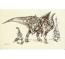 Holiday Hadrosaur 2011 Photographic Print