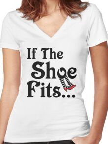 Wizard of Oz - If The Shoe Fits Women's Fitted V-Neck T-Shirt