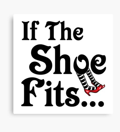 Wizard of Oz - If The Shoe Fits Canvas Print
