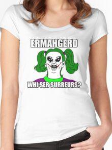 Ermahgerd Bertmern! Women's Fitted Scoop T-Shirt