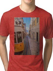 Ascensor da Bica furnicular, Lisbon Tri-blend T-Shirt