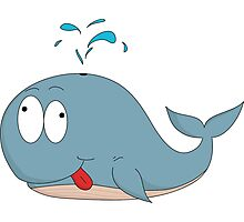 Cartoon whale Photographic Print