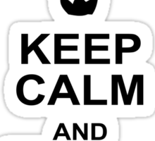 Keep Calm and Break Bad Sticker