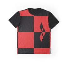 Red and Black Diamonds Graphic T-Shirt