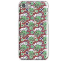 Sleeping Green Puppy Pattern iPhone Case/Skin