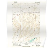 USGS Topo Map Washington State WA Karakul Hills 241736 1964 24000 Poster