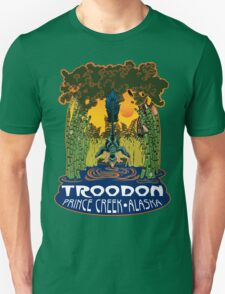 Retro Troodon in the Rushes (dark-colored shirt) T-Shirt