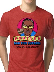 Pootie's Bad Time Burgers Tri-blend T-Shirt