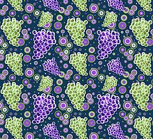 Green and Purple Grapes Pattern by SaradaBoru