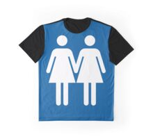 Toilet Couple - Female with Female Graphic T-Shirt