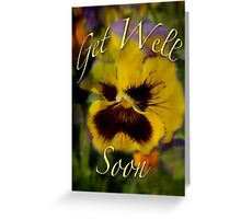Sharon's Get Well Card - Floral Pansy Greeting Card