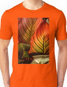 Vivid Canna Leaves, in HDR Unisex T-Shirt