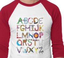 Children's Alphabet Men's Baseball ¾ T-Shirt