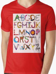 Children's Alphabet Mens V-Neck T-Shirt