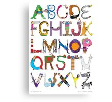 Children's Alphabet Canvas Print