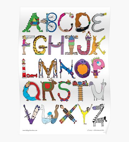 Children's Alphabet Poster
