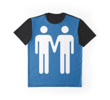Toilet Couple - Male with Male Graphic T-Shirt