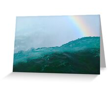 Somewhere over the rainbow and falls at Niagara Greeting Card