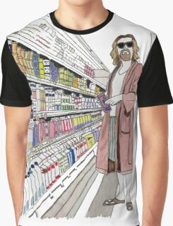 Jeffrey Lebowski and Milk. AKA, the Dude. Graphic T-Shirt