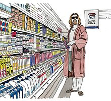 Jeffrey Lebowski and Milk. AKA, the Dude. by wtfiamisaid