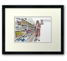 Jeffrey Lebowski and Milk. AKA, the Dude. Framed Print