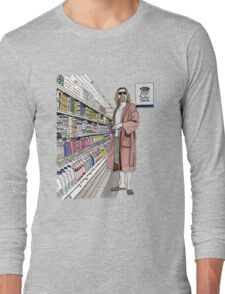 Jeffrey Lebowski and Milk. AKA, the Dude. Long Sleeve T-Shirt