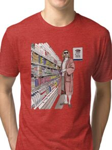 Jeffrey Lebowski and Milk. AKA, the Dude. Tri-blend T-Shirt