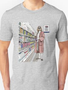 Jeffrey Lebowski and Milk. AKA, the Dude. Unisex T-Shirt