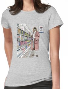 Jeffrey Lebowski and Milk. AKA, the Dude. Womens Fitted T-Shirt