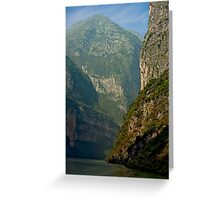 Three Gorges River Bend Greeting Card