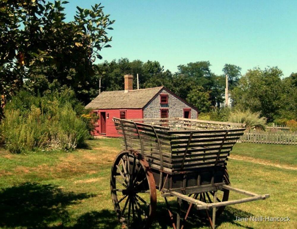 An Antique Apple Cart, Prescott Farm, Middletown, RI by Jane Neill-Hancock