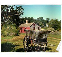 An Antique Apple Cart, Prescott Farm, Middletown, RI Poster
